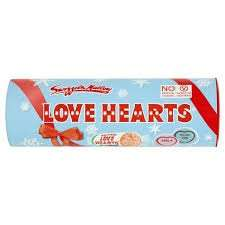 Love Hearts Tube (Contains 11 mini packs) 108g - 25p at TESCO