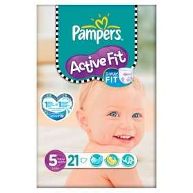 Pampers Activefit Nappies 21 pack size 5 £1.50 @ Asda (Also online)