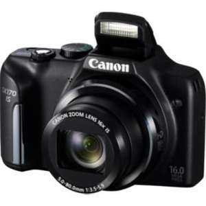 Canon PowerShot SX170 16MP 16x Zoom Compact Digital Camera - £89.99 @ Argos