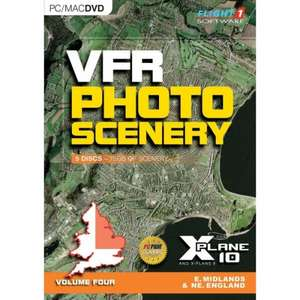 VFR Photo Scenery for X Plane 10 - £4.99 each volume - 365games.co.uk