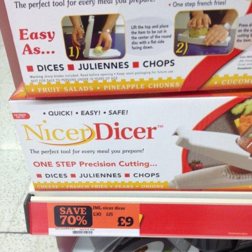 JML Nicer Dicer £9 (was £30) instore @ Sainsbury's