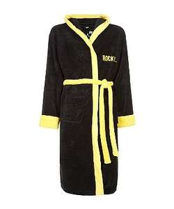 Rocky Black and Yellow Fleece Robe £12.99 plus delivery at New Look