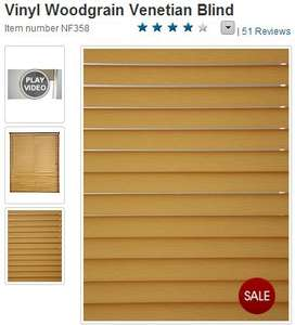 Vinyl Woodgrain Venetian Blind at Woolworths online! Cheapest set of blinds only £3.50!