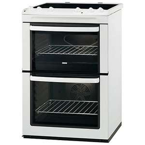Zanussi ZCV661MWC Electric Cooker, White. At John Lewis reduced to clear at £379.00