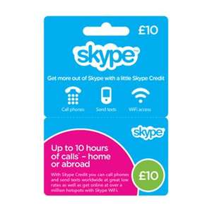Skype Credit Top Up Cards HALF PRICE (WHSmiths + other)