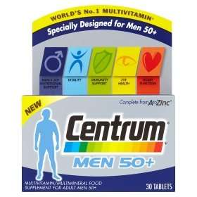 ASDA Health, Vitamins & Supplements Multibuy Offer - Buy any 3 for £10 (e.g. Centrum 50+ £7.49 each, 3 for £10)