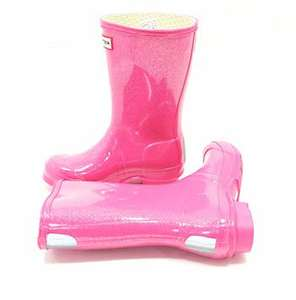 Kids Glitter pink Hunter Wellies £25 retail price £39 @ Garden4less