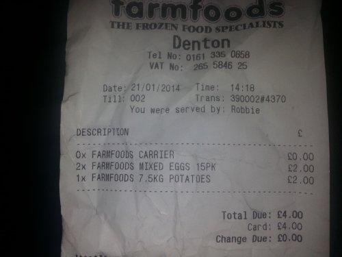 7.5kg  potatoes £2 @ farmfoods