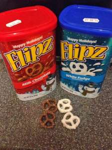 Flipz white fudge or milk chocolate covered pretzels from Tesco £1 from £4 instore