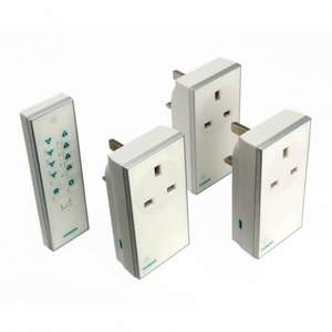 Siemens (lightwaverf) Remote Control Socket Kit 3 Pack White/black only £19.98 instore and online @ B&Q