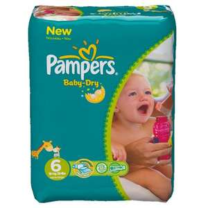 Pampers Baby Dry Size 6 Extra Large Monthly Pack--124 Nappies - Amazon Delivered £13.66