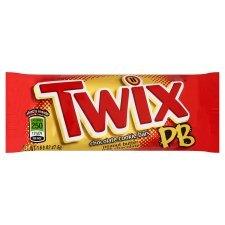 Twix Peanut Butter Milk Chocolate Bars 47.6G - £1 @ Tesco