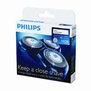Brand New & Genuine Philips HQ8/50 Dual Precision Replacement Shaving Heads (Fits Most HQ, AT & PT 3 Head Machines - See Description for Detail). £25.24 Delivered (Fulfilled by Amazon & Sold by Booya Deals UK) or £25.47 Direct