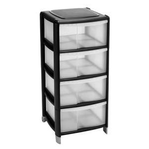 Put some drawers in these drawers. Wilko Storage Unit 4 Drawer £12 @ Wilkinsons