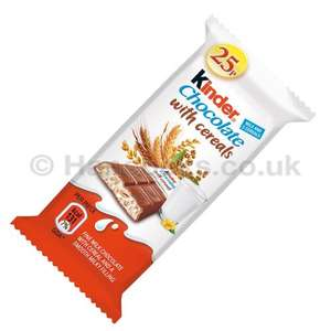 10 Kinder Chocolate Cereal Bars £1 @ Farmfoods