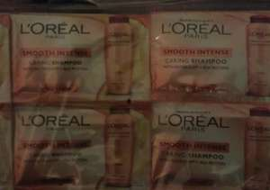Loreal Smooth Intense Caring Shampoo  X 24  10ml sachets for £1@ Poundland.