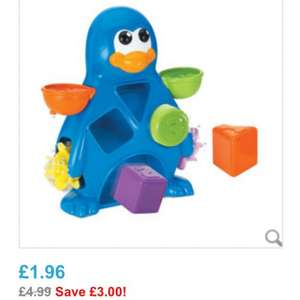 "Babies ""R"" Us Busy Penguin Bath Toy £1.96 click & collect"