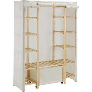 Polycotton and Wood Triple Wardrobe with Drawer - Cream £31.99 @ Argos (was £74.99)