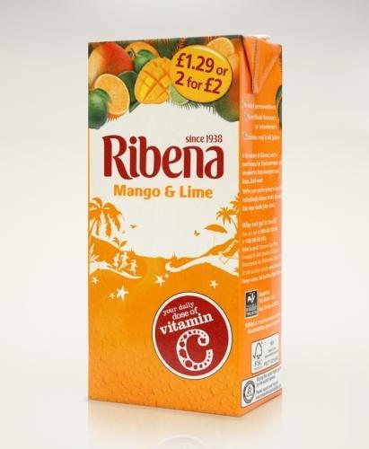 Ribena Mango & Lime 1L Cartons 29p Each @ FarmFoods