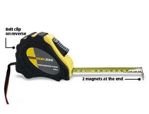 Workzone (Aldi) 10 Metre Tape Measure - £3.99 @ Aldi