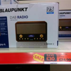 Blaupunkt DAB Radio with Alarm less than half price - £24.99 @ Sainsburys instore