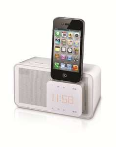 LG ND1520 iPod Docking Speaker in White with Alarm Clock, FM Radio and Auto EQ Technology @ Amazon £18.90