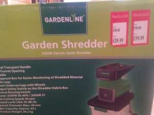 Aldi Gardenline 2500w electric quiet garden shredder - £39.99 @ Aldi