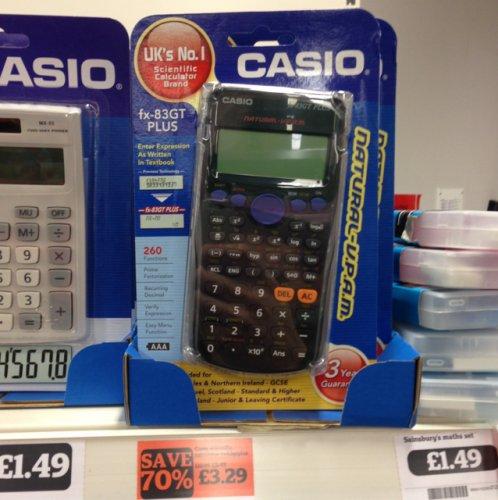 Casio fx-83gt plus scientific calculator £3.29 @sainsburys