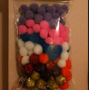 Pom poms £1.00 in store @ pound land