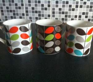 Orla kiely inspired stem design mugs £1 @ discount brands uk