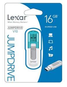 Lexar 16GB JumpDrive V10 USB  free delivery  £5.75 @ Ebuyer