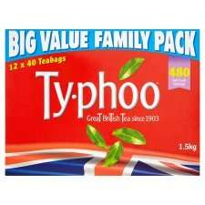 Typhoo Tea Big Family Value Pack 480 tea bags - half price at just £3.50 from tomorrow at Tesco