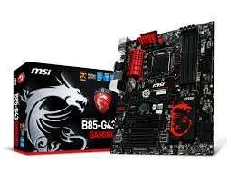 MSI B85-G43 Gaming, Intel LGA1150 ATX Motherboard (4x DDR3, 4x USB 3, 8x USB 2, GBE, LAN, VGA, HDMI, DVI) £58.95 @ amazon (check comments for detail specs)