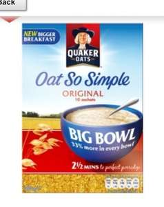 Oats so simple -big bowl sachets £1 for 10 at Asda