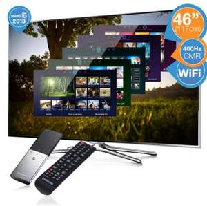 Samsung 46 inch (117cm) 3D LED Smart TV with 400 Hz refresh and Smart Touch Remote £544.90 from IBOOD
