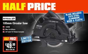 Evolution Stealth Circular Saw HALF PRICE £49.99 @ Screwfix + Reduced Evolution Stealth Mitre Saw