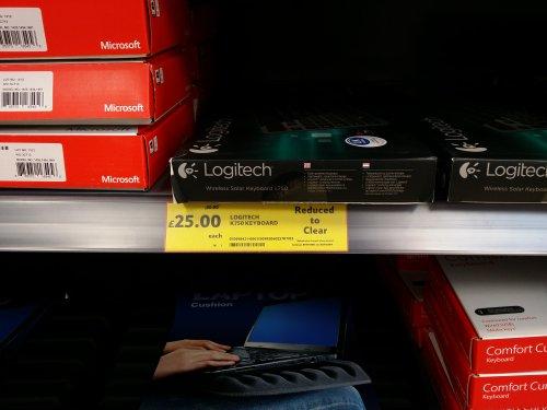 Logitech K750Wirelees Solar Keyboard £25.00 Tescos in store.