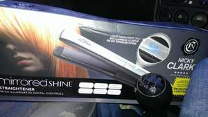 Nicky Clarke mirrored shine straighteners 1p @ Tesco INSTORE