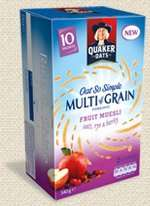 Quaker Oat So Simple Multigrain Porridge (Original,Honey,Fruit Muesli) £1 @ Asda