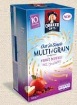 Quaker Oat So Simple Multigrain Porridge (Original,Honey,Fruit Muesli) £1 @ Asda