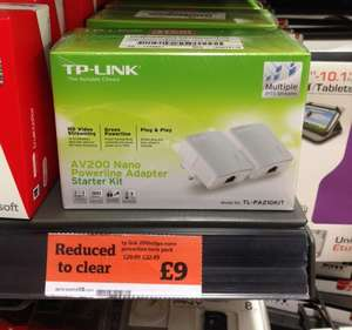 TP-Link TL-PA211KIT AV200 Nano 200Mbps Powerline Adapter - Twin Pack - ONLY £9 sainsburys Instore