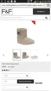 Womens knitted slipper boots £5 f&f tesco clothing delivered 50% off