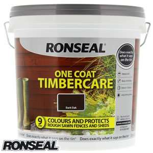 Ronseal One Coat Timbercare: Dark Oak 9 Litre - £5.99 @ Home Bargains