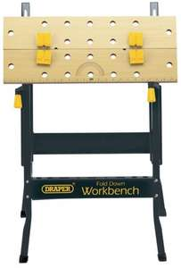 Draper DIY Series 09788 600 mm Fold-Down Workbench @ AMAZON, only £12.99 Inc FREE DELIVERY