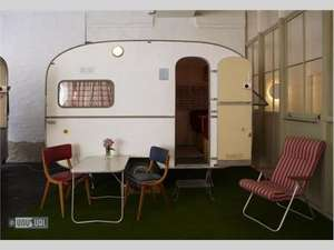 Berlin - Staying in an Old Shed or Caravan inside a former Hoover Factory  £55 Single Room & £65 Double Room with Breakfast per Night - Flights from £51pp from various/departure airports available. @ Easyjet/Huettenpalast