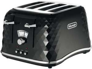 De'Longhi Brillante Faceted 4-Slice Toaster - Black. Sold By Amazon