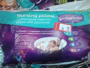 Slumberdown Nursing Pillow - £4.99 @ ALDI