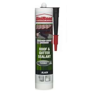 Fix those leaking gutters - Unibond Roof & Gutter Sealant £3.00 @ Wilko Instore/online