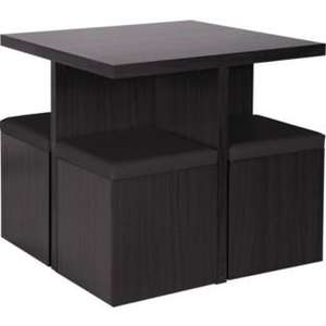 Hygena Boston Spacesaver Table and 4 Chairs - Black £99.99 @ Argos
