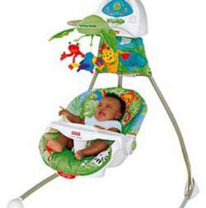 Fisher-Price Rainforest Open Top Cradle Baby Swing. £54.99 @Argos BETTER THAN HALF PRICE